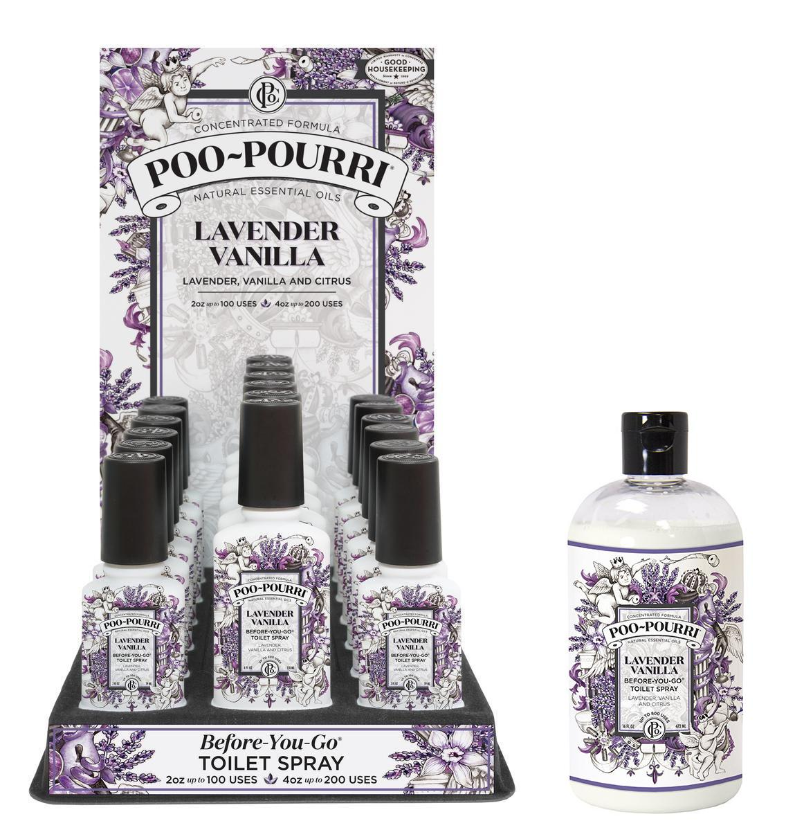 PooPourri E Bathroom Spray Odor Neutralizer Lavender Vanilla LVCB - Bathroom odor spray