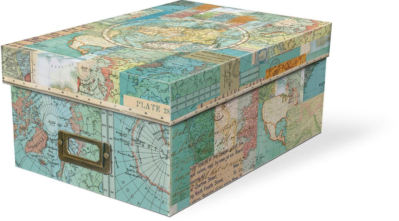 Punch Studio Everyday Decorative Photo Storage Boxes – World Atlas ...: babyfamilygifts.com/product/punch-studio-everyday-decorative-photo...