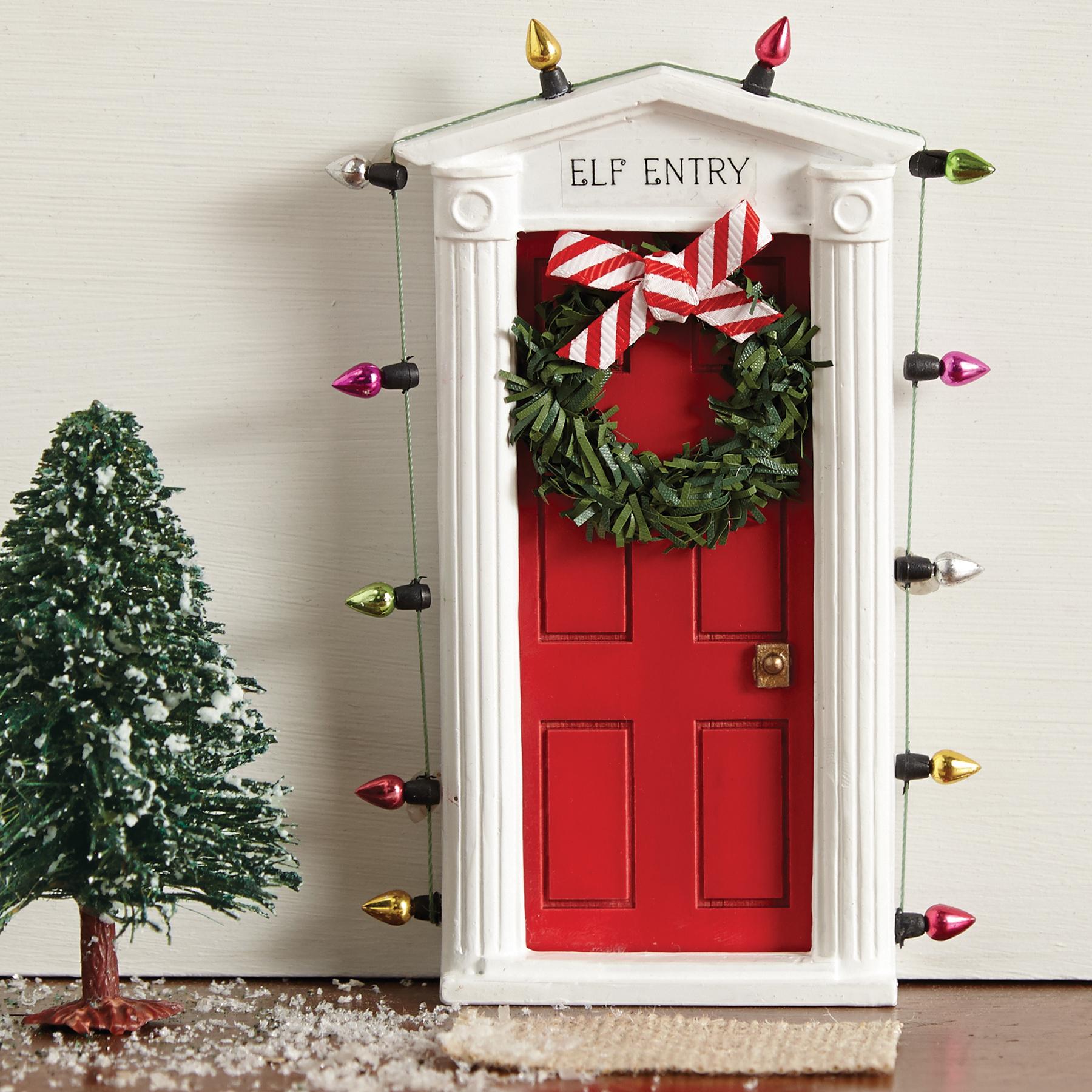 Mud Pie H7 Christmas Santa Baby Kids Boy Or Girl Wall Decor Elf Door 2002150 \u2013 BABY FAMILY GIFTS