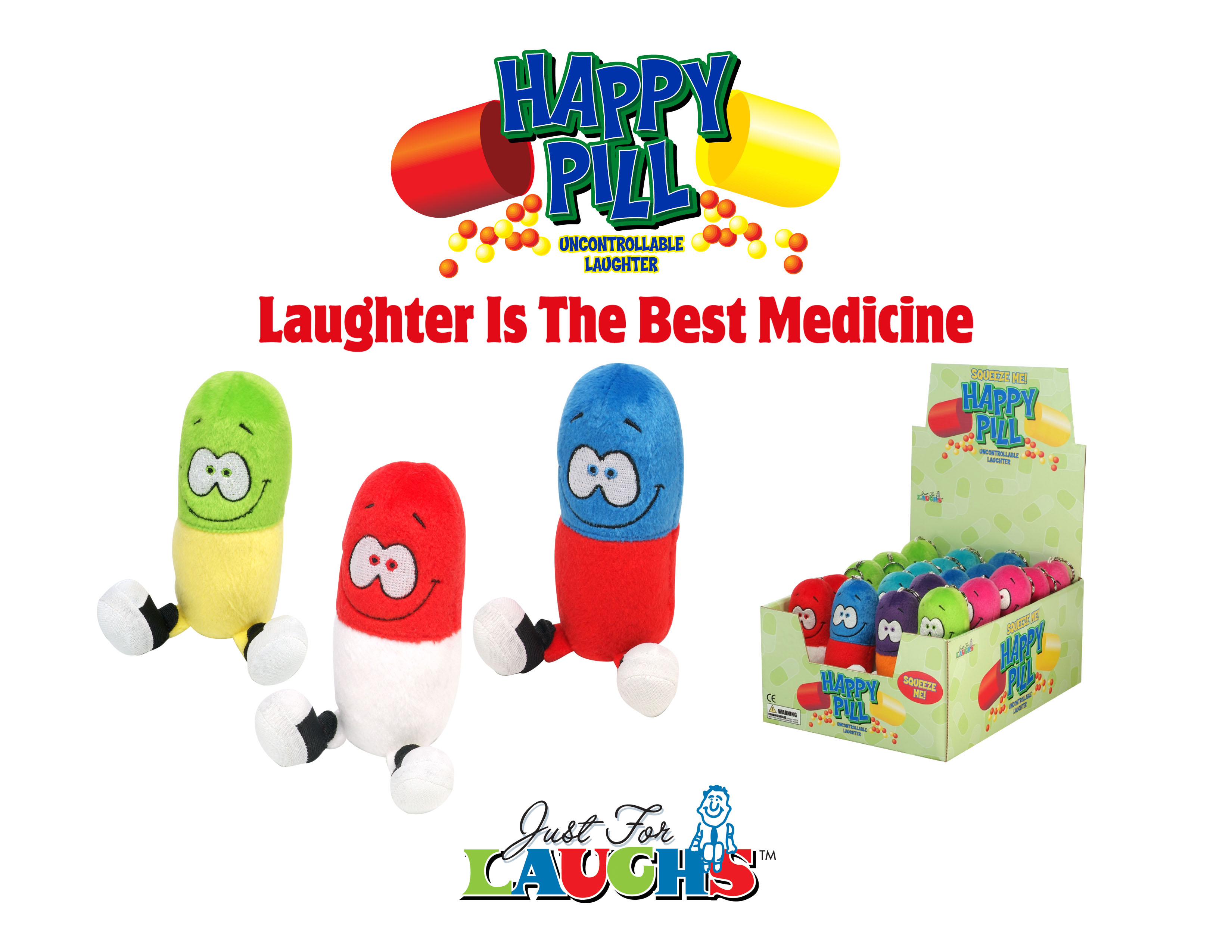 Image result for just for laughs happy pill logo