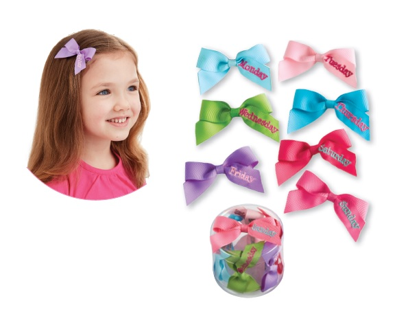 c41bbea59 Mud Pie MH5 Back to School Kids Girl Days of the Week Hair Bow Set ...