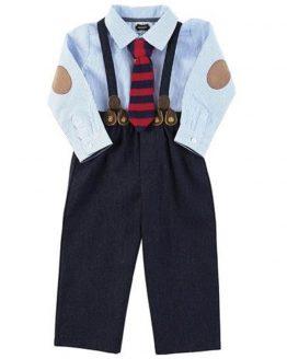 1b8a30568 Mud Pie Holiday Little Gentlemen MH5 Baby Toddler Boy Suspender Pant Set  1012179