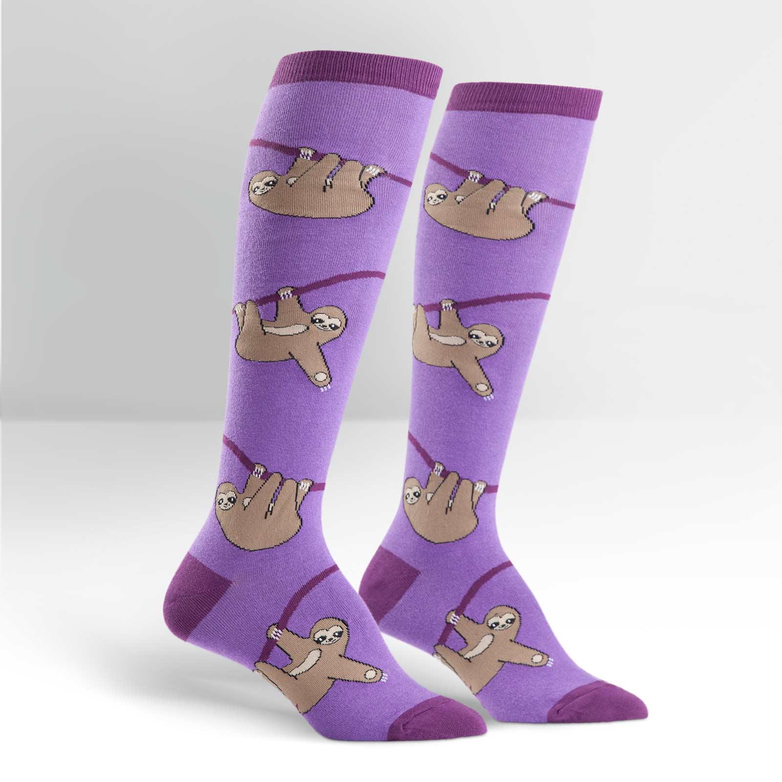 Sock It to Me Women's Knee High Funky Socks Pug Terrier ...