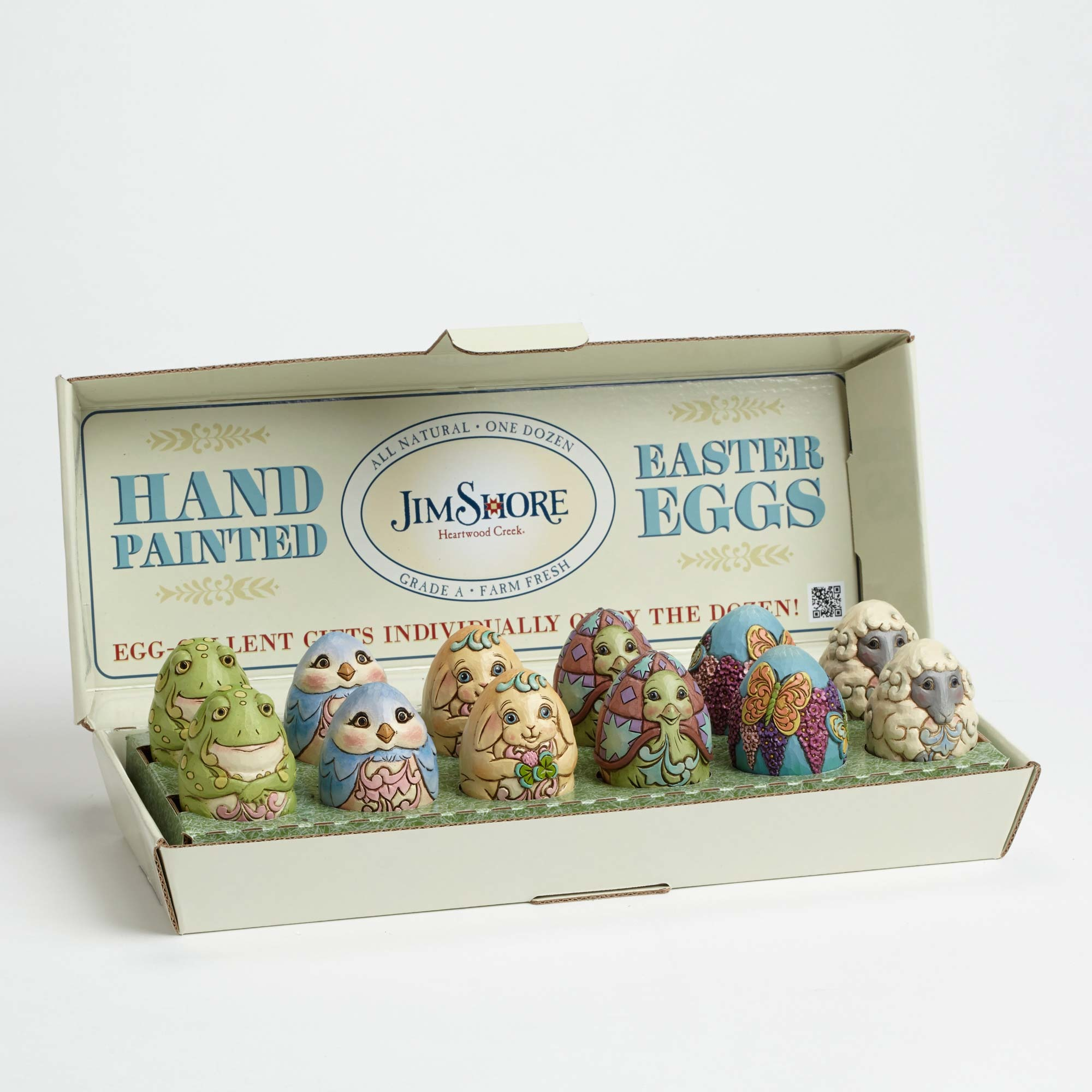 New box truck heartwood manufacturing - Enesco Jim Shore Easter Cardboard Decorative Egg Carton Display Box Only Cd 01