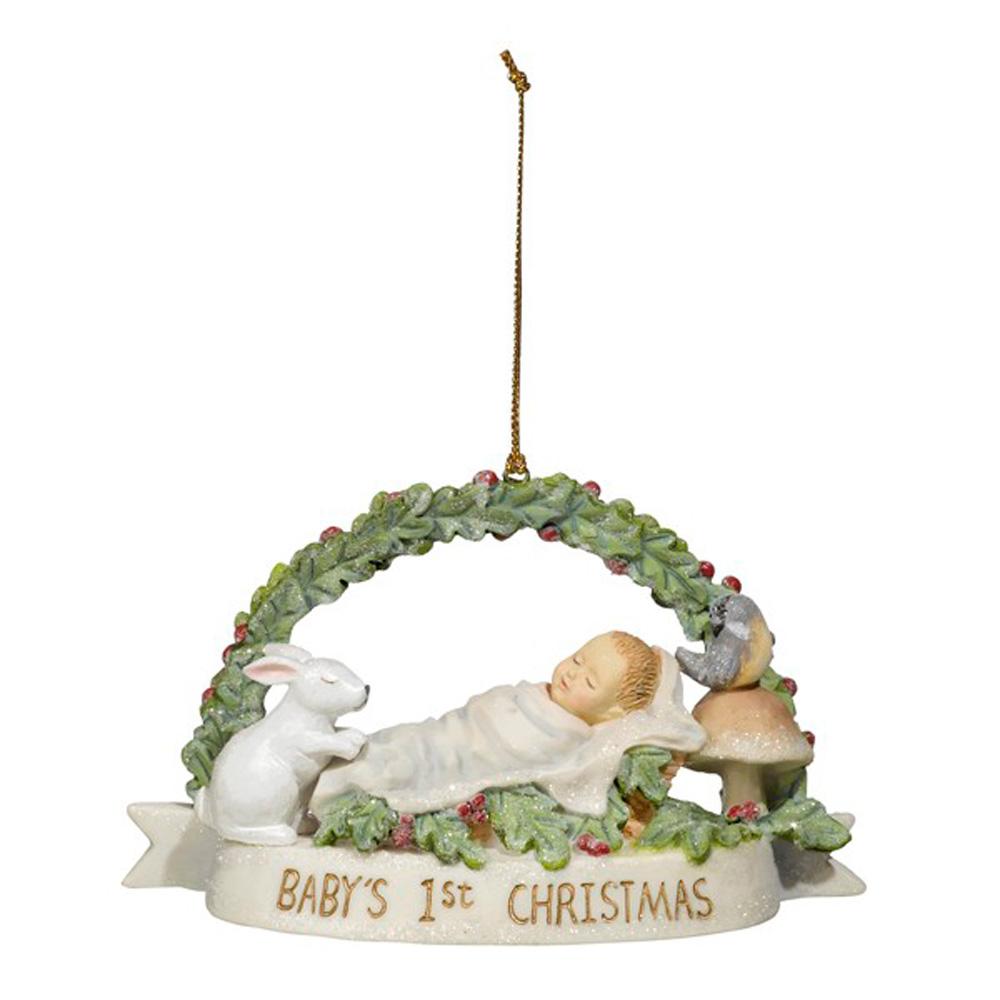 grasslands road h7 holiday boy or girl babys first christmas ornament 472111 - Baby Boy First Christmas Ornament