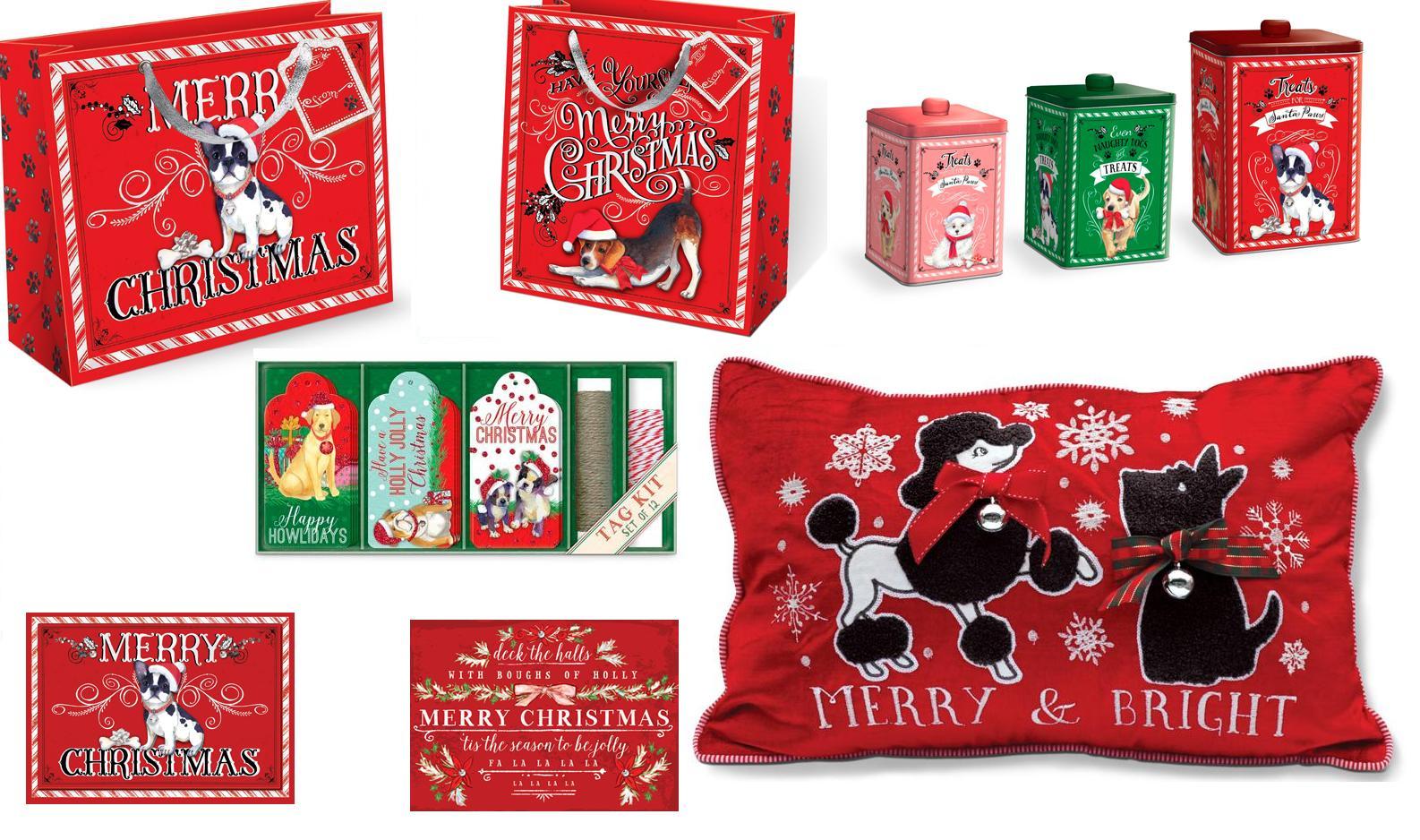 Punch Studio Molly & Rex Christmas Boxed Greeting Cards – Santa Paws ...