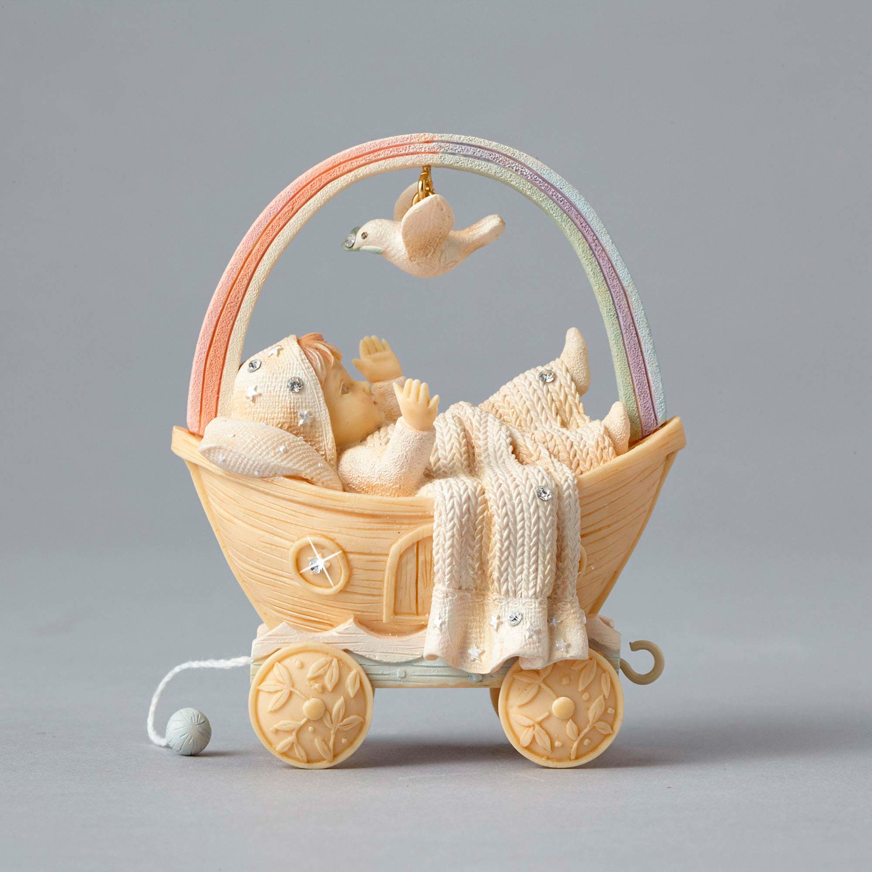 foundations baby shower birthday train ark figurine baby 4050140