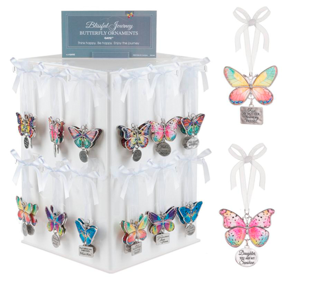 Butterfly Home Decor: Ganz Home Decor Christmas / Spring Blissful Journey