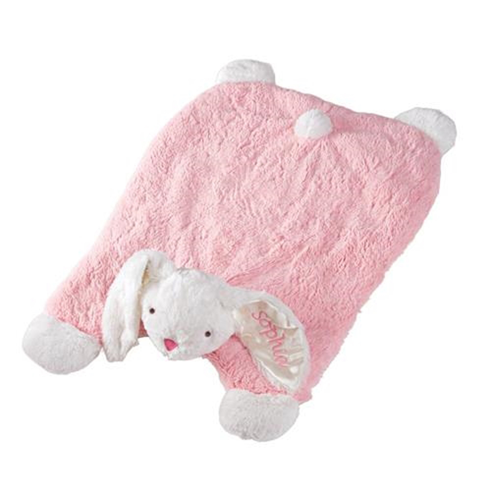 Mud Pie Mh6 Easter Baby Girl Pink Plush Bunny Play Or Nap
