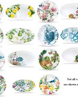 Michel Design Kitchen Dining Serveware Round OR Oval Platter