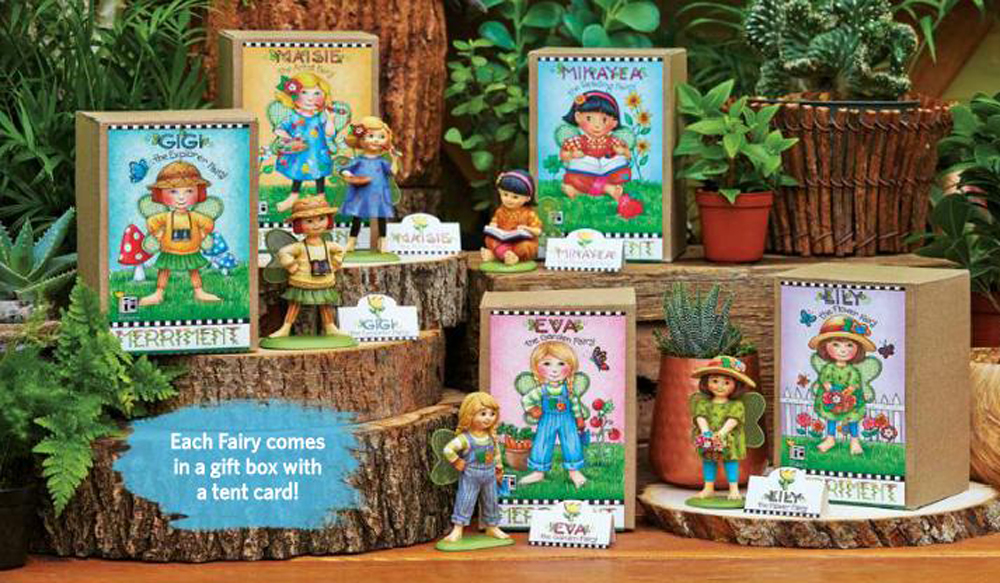 Studio m merriment mary engelbreit fairy garden mini ladybug watering can me116 ebay - Ladybug watering can ...