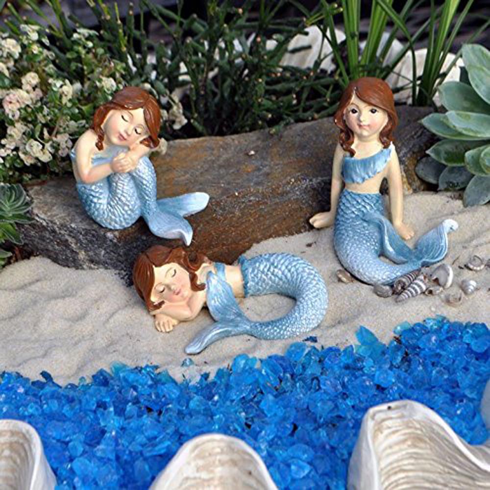 Ganz home decor fairy garden fantasy mermaid figurines for Mermaid decorations for home