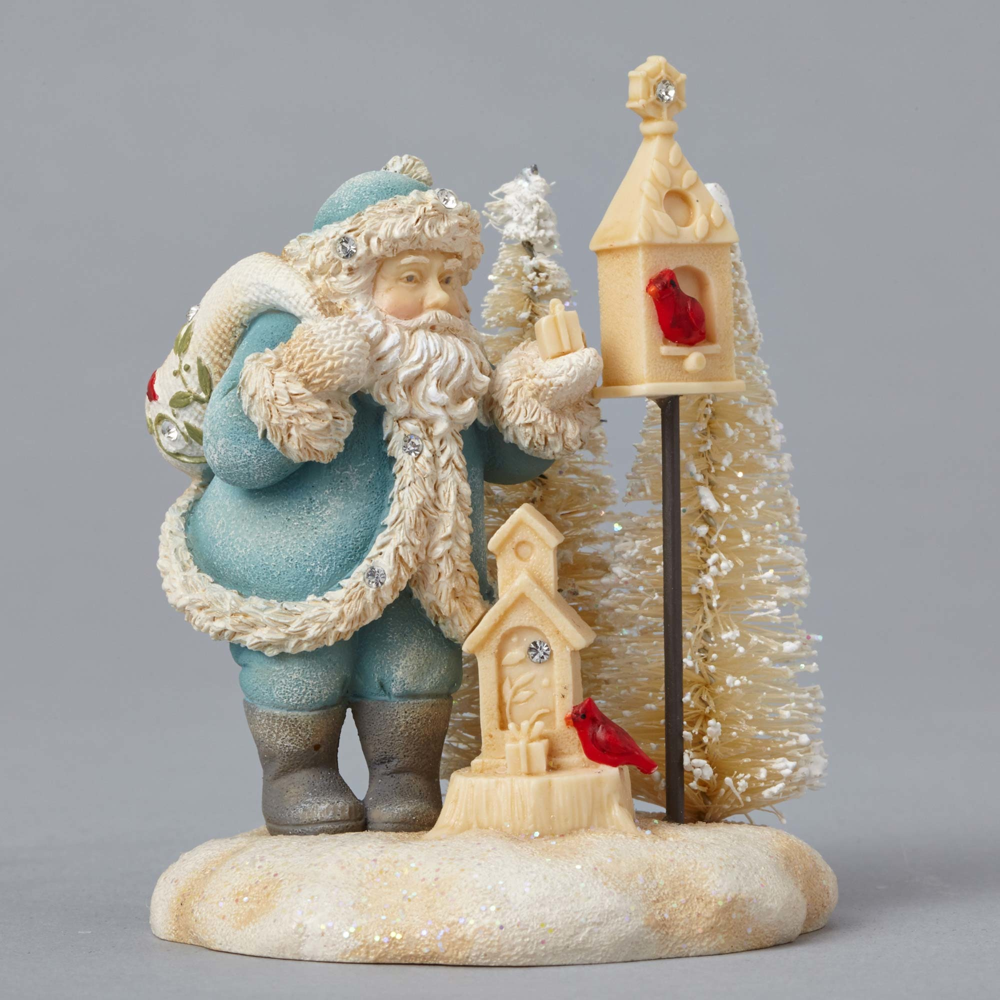 Enesco foundations christmas mini winter vignette santa