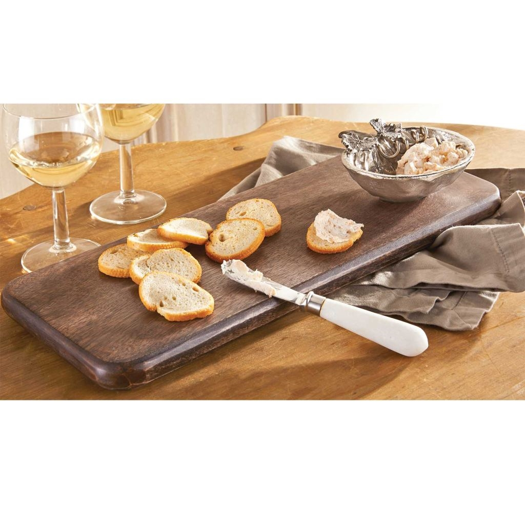Mud Pie MH6 Fall Thanksgiving Wood Harvest Serving Board