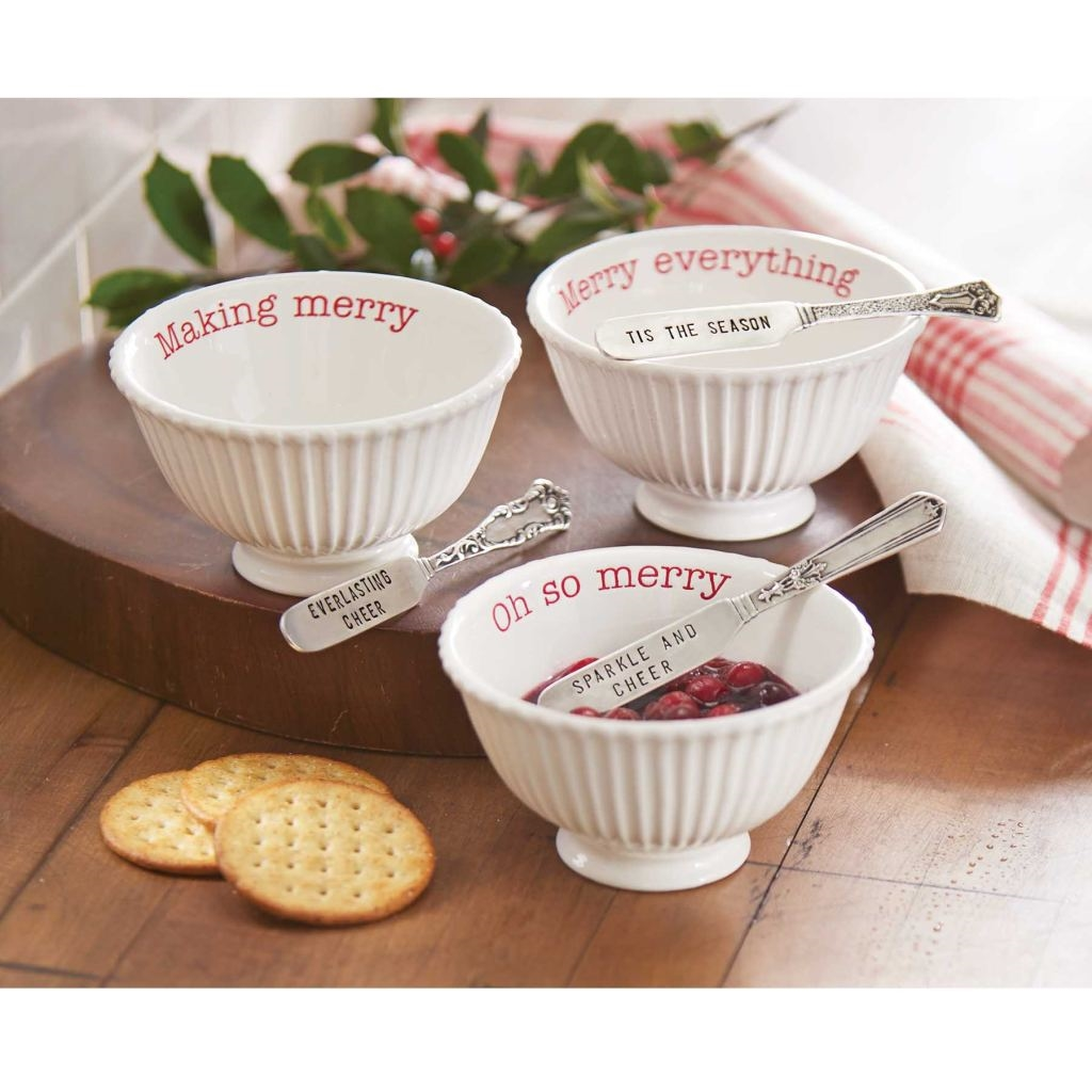 Mud Pie Mh6 Circa Christmas Holiday Ceramic Dip Cup Bowl