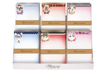 5x7 Note Pads Display
