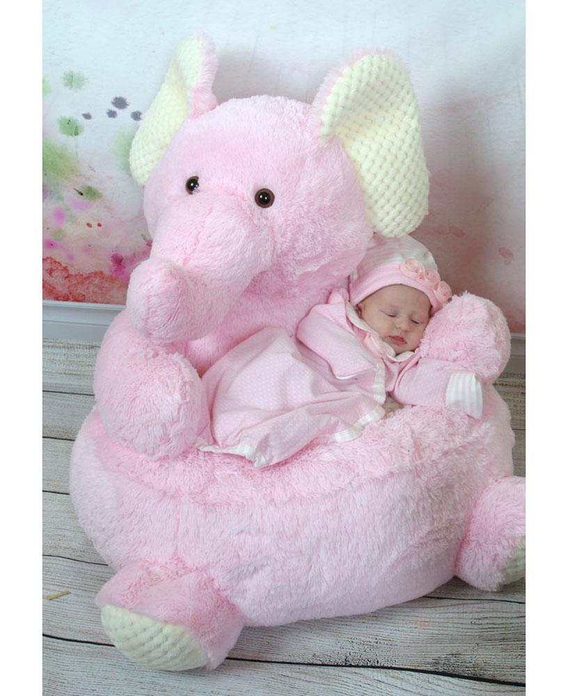 Stephan Baby Girl Bedroom Plush Stuffed Animal Chair Pink Elephant 101406