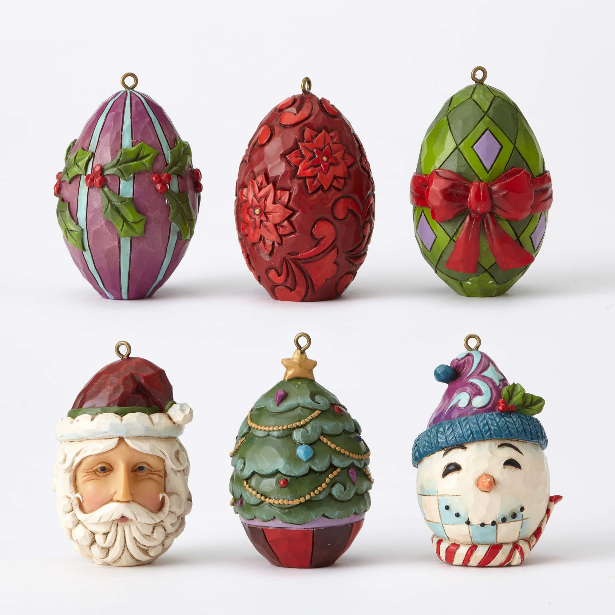 Enesco Jim Shore Heartwood Creek Christmas Egg Ornament