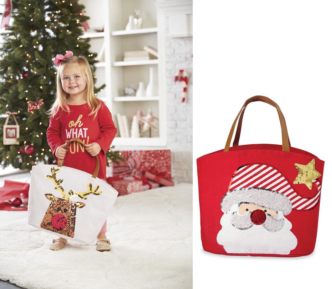 Mud pie mh christmas little girl sequin santa or reindeer