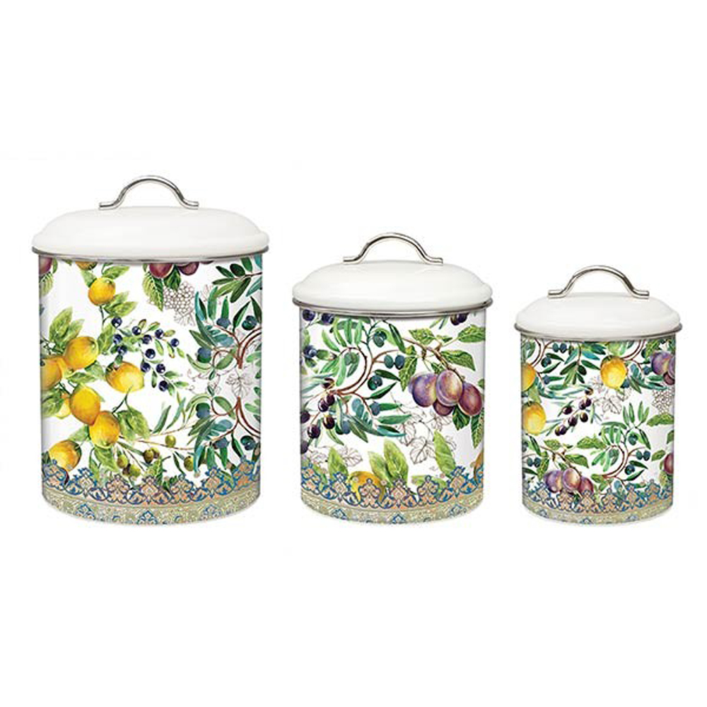 Kitchen Canisters Sets: Michel Design Works E7 Kitchen Baking Cooking Metal