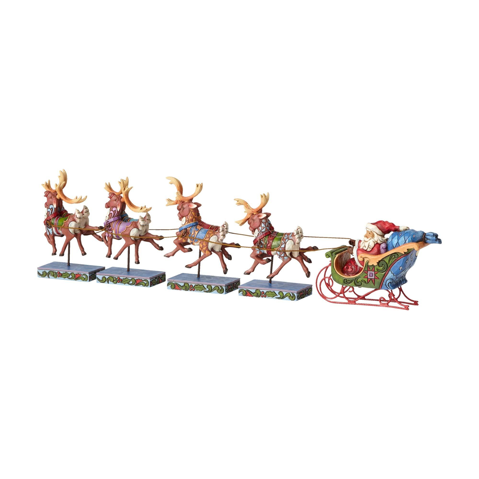 Enesco JSH6 Jim Shore Christmas Santa Sleigh-Reindeer 5 ...