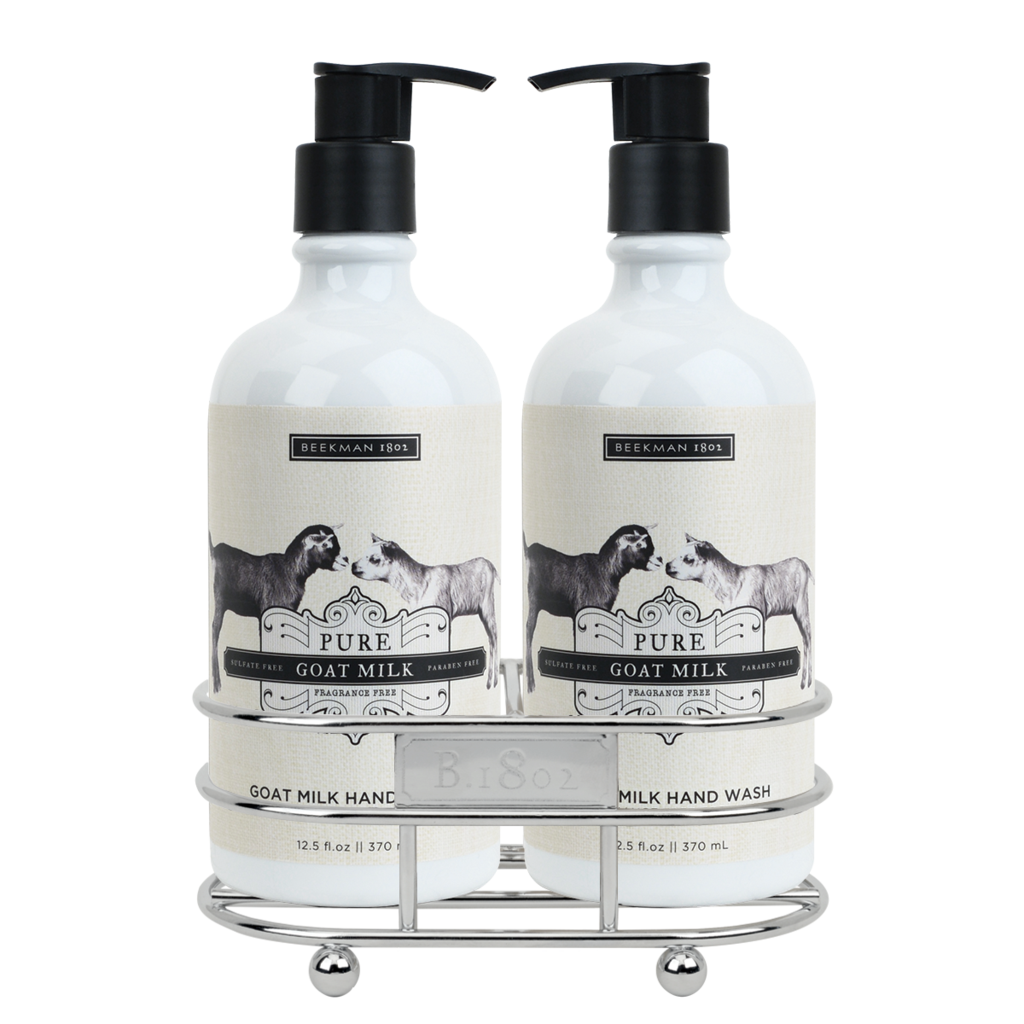 Beekman 1802 goat milk hand wash lotion caddy set pure Hand wash and lotion caddy