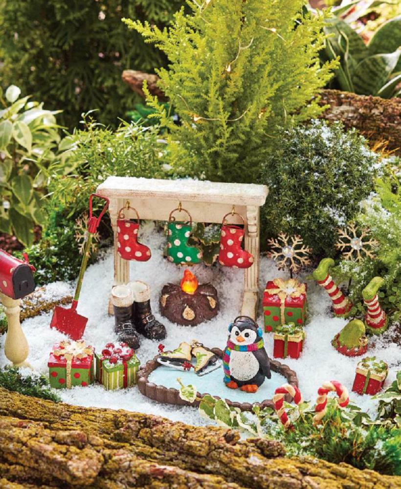 Studio M Gypsy Garden Fairy Garden Winter Christmas ...