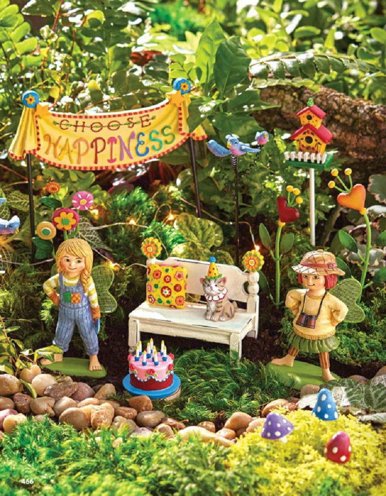 Studio M Merriment Mary Engelbreit Fairy Garden Happy