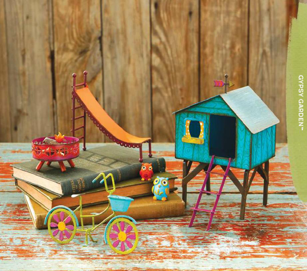 Studio M Gypsy Garden Fairy Campfire Bicycle Treehouse