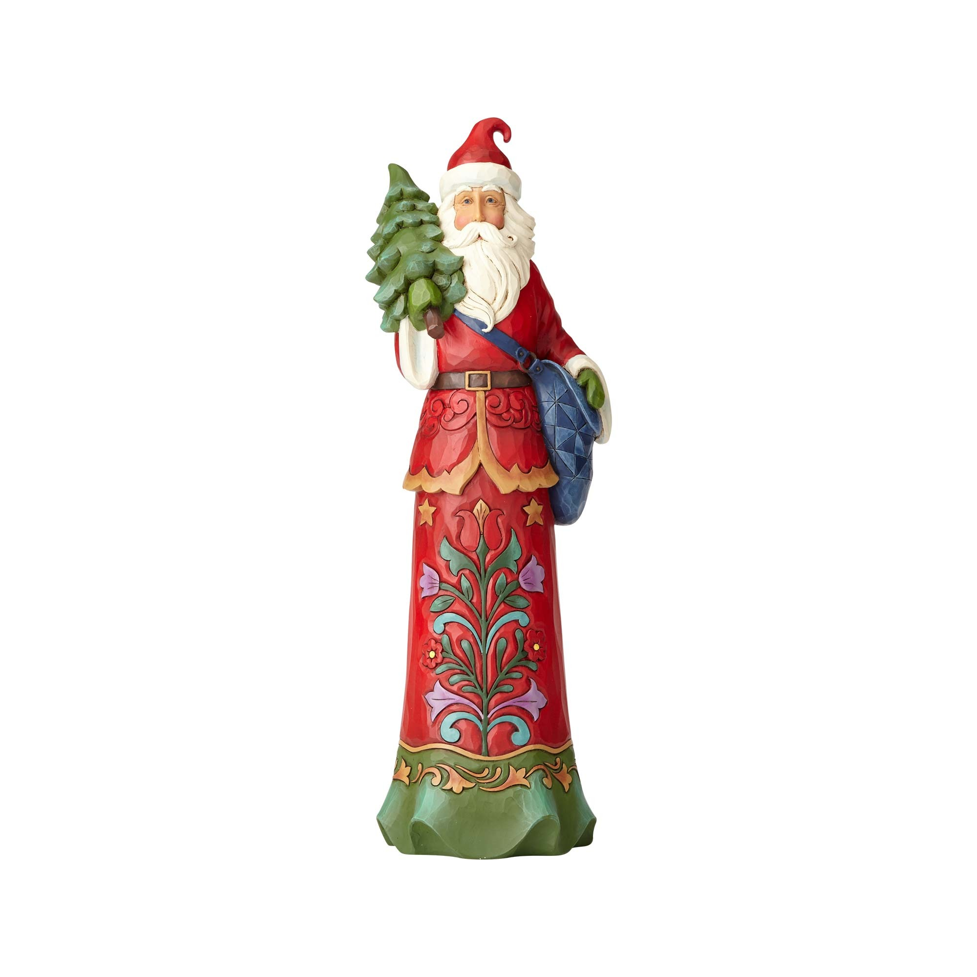 Enesco h heartwood creek jim shore tall santa w tree