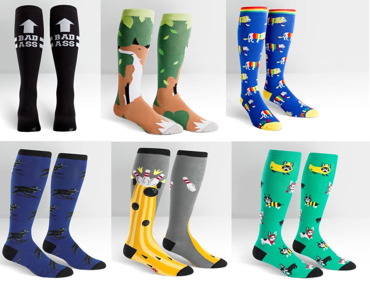 284d9dfd3 Sock It To Me E8 Women s Men s Knee High Wide Calf STRETCH Socks – Choose  Design