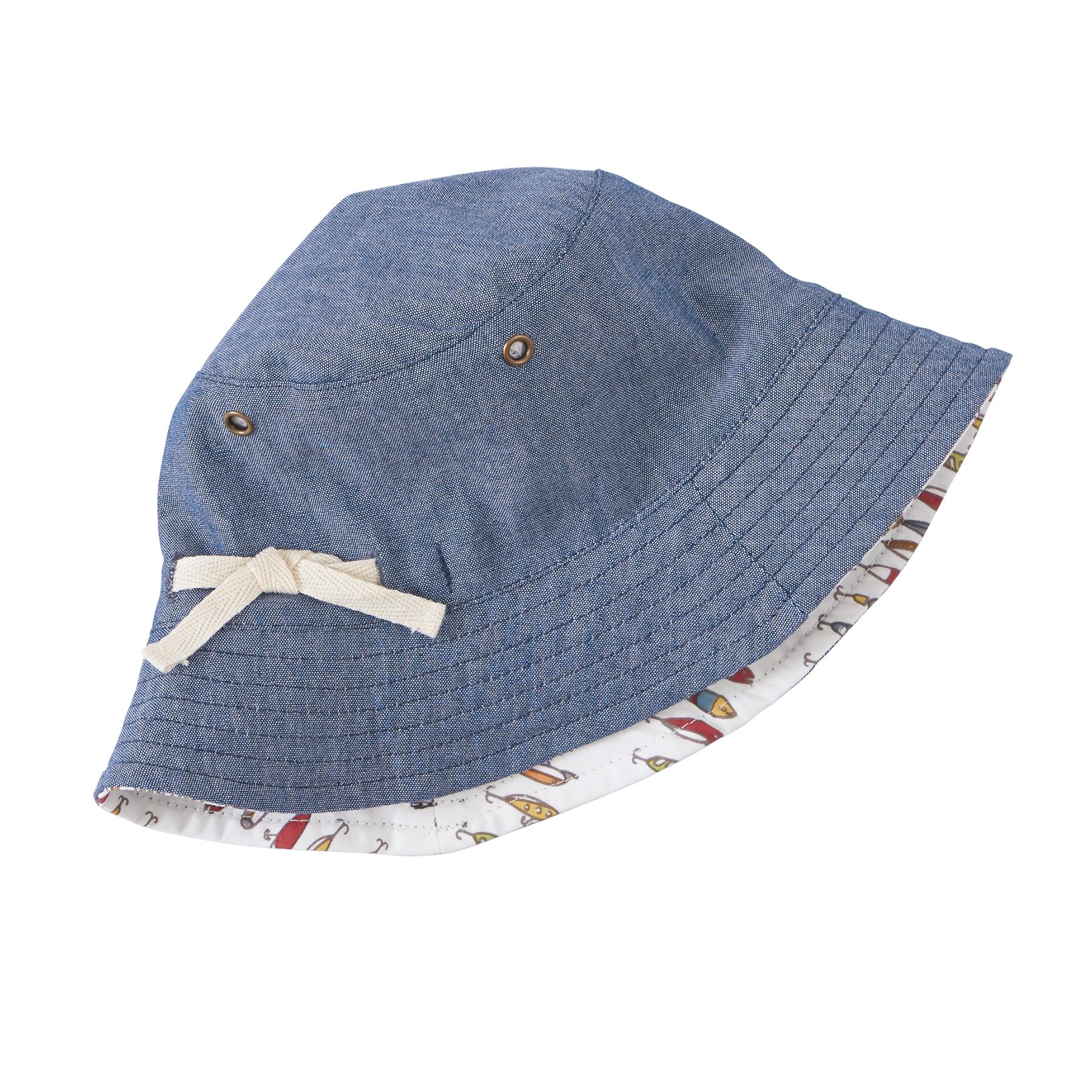 Mud pie mk7 gone fishing baby boy fish lure reversible for Toddler fishing hat