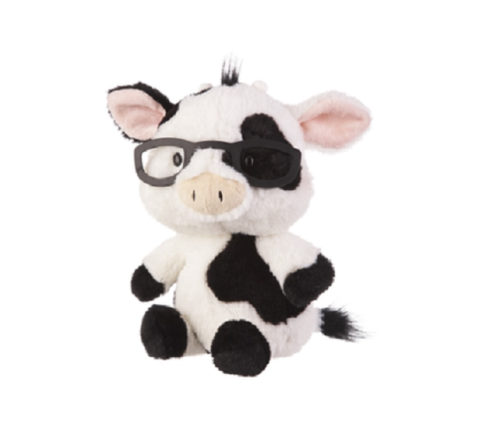 6bf8caa89 Ganz E8 Baby Plush Stuffed Animal 11in Spectimals Cow w/ Glasses Toy ...