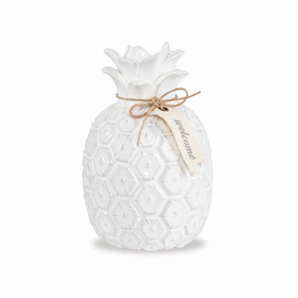 Fresh Mini Ceramic Small Vase Home Decor Gift Ideas And: Mud Pie E8 Home Decor White Ceramic Pineapple Bud Vase