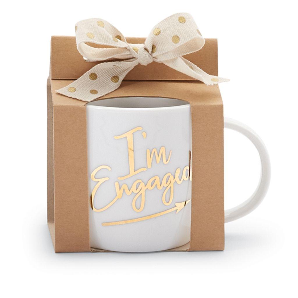 Mud Pie E8 Wedding, Engagement 12oz White Gold Ceramic Mug 4355045 ...