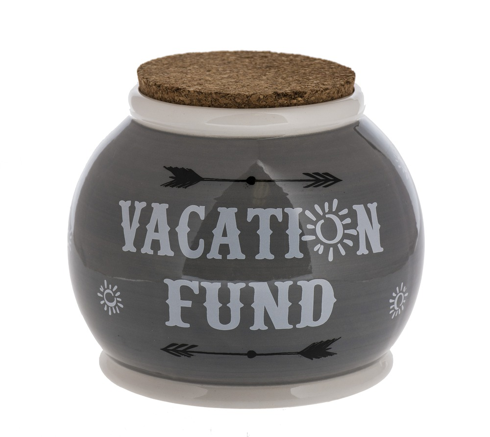 Ganz E8 Home Decor Ceramic 5×4.5in Vacation Fund Storage ...