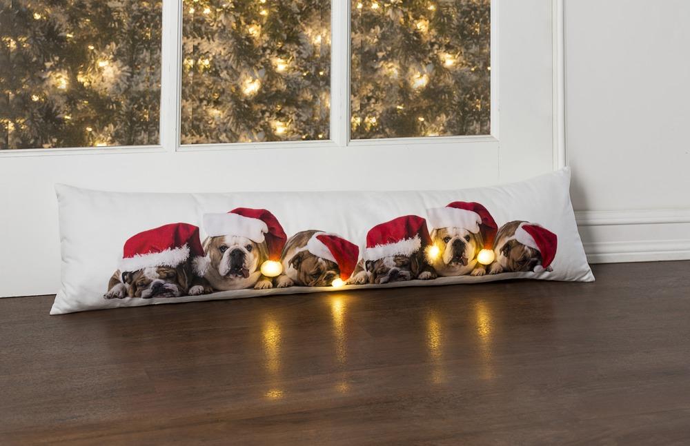 Ganz H8 Christmas Pet Lover Light Up Santa Dog W Timer 34x6in Draft