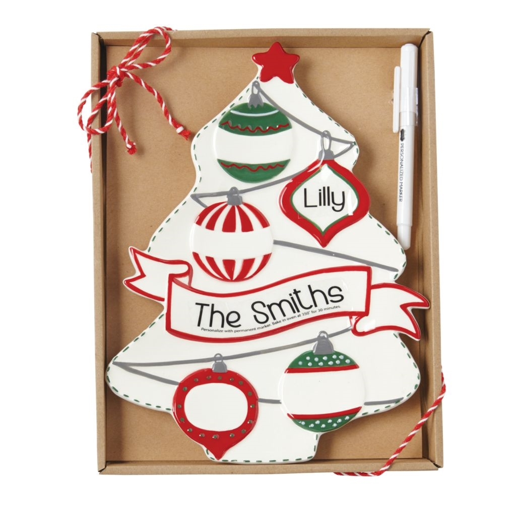 3d270e837 Mud Pie H8 Christmas Here Comes Santa Personalized Tree Plate Set 4075161