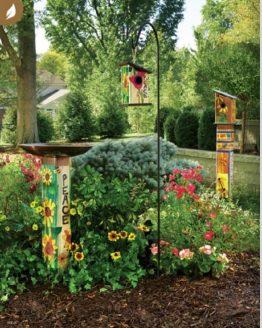 Art Poles, Birdbaths, Birdhouses, Birdhouse Art Poles and Accessories