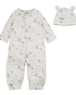 Mud Pie E0 Counting Sheep Kids Baby Boy Girl Cotton 2-Piece Pant Set 11010155