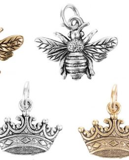 Beaucoup-Design-Character-Fleur-De-Lis-Crown-Bee-Necklace-Bracelet-Charm-301011448425