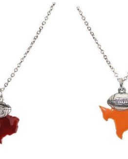 Beaucoup-Design-Silver-Enameled-State-Football-Necklace-Texas-Burgundy-or-Orange-301327146007