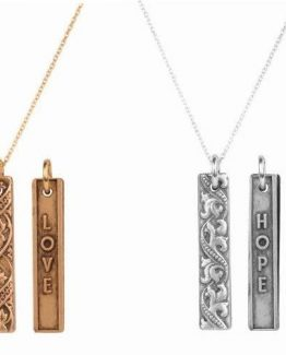 Beaucoup-Designs-18-Gold-or-Silver-Rectangle-Sentiment-Necklace-Hope-or-Love-291251481740