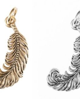 Beaucoup-Designs-Character-Gold-Or-Silver-Plume-Feather-Necklace-Bracelet-Charm-301199810951