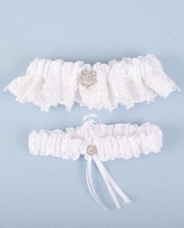 Beaucoup-Wedding-Bride-White-Lace-Rhinestone-Bridal-Garter-Set-BGarter1-301033075812