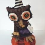 CF-Halloween-Musical-Turning-Owl-On-Pumpkin-Door-Hanger-Figure-FGS69845-300945106008