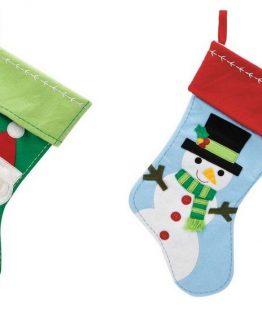 CR-Gibson-Boy-Girl-Christmas-Santa-Snowman-Stockings-XBS1-11904-XBS1-11905-301371809219