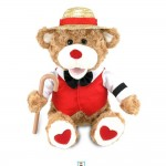 Cuddle-Barn-12-Valentines-Plush-Bear-B-Sharp-Sings-Book-of-Love-CB4523-301474876091