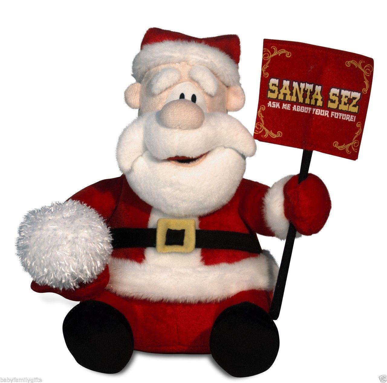 Santa Claus Toys : Cuddle barn christmas fortune telling animated santa claus