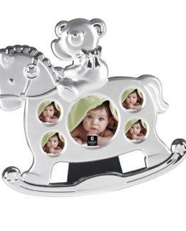 Cupecoy-Design-Baby-Two-Tone-Teddy-On-Rocking-Horse-Photo-Frame-Keepsake-71160-291131526526